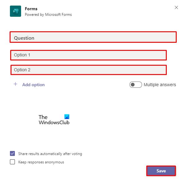 Create polls on Microsoft Teams using Polly.