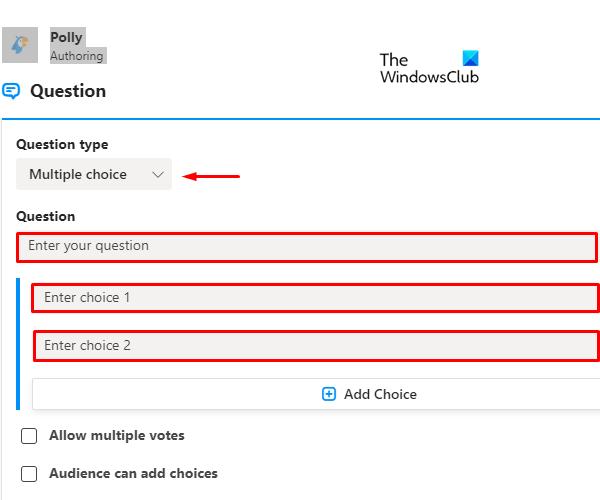 How to call Polls on Microsoft Teams