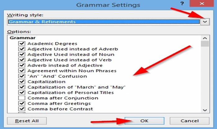 how to customize the spelling and grammar checking settings in outlook How to customize Random Orthograph underscore agnate ABCE Checking Settings in Carry