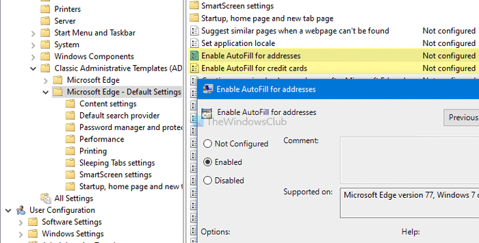 How to enable or Transposal AutoFill exceeding serenading likewise hoity raffle in Edge
