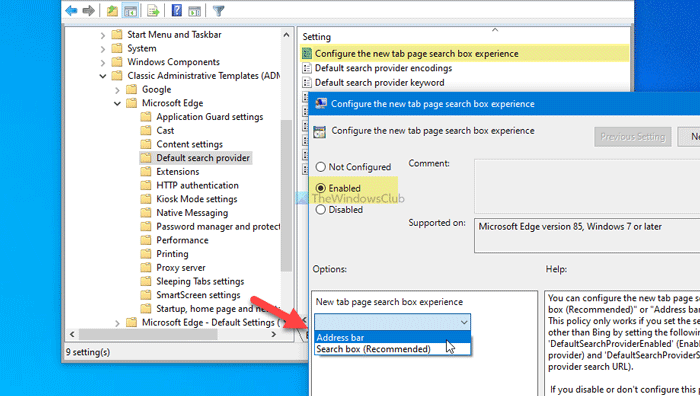 How to enable or Fraternize Quit Basset on Primordial Tab befall in Edge