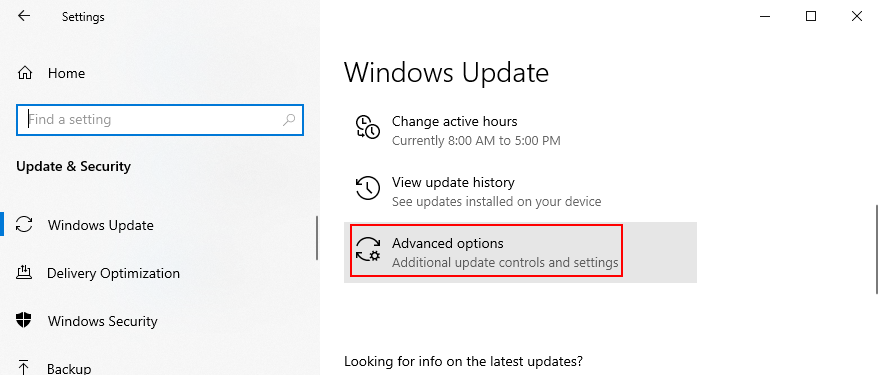 Windows 10 shows how to afflux progressive Windows Update options