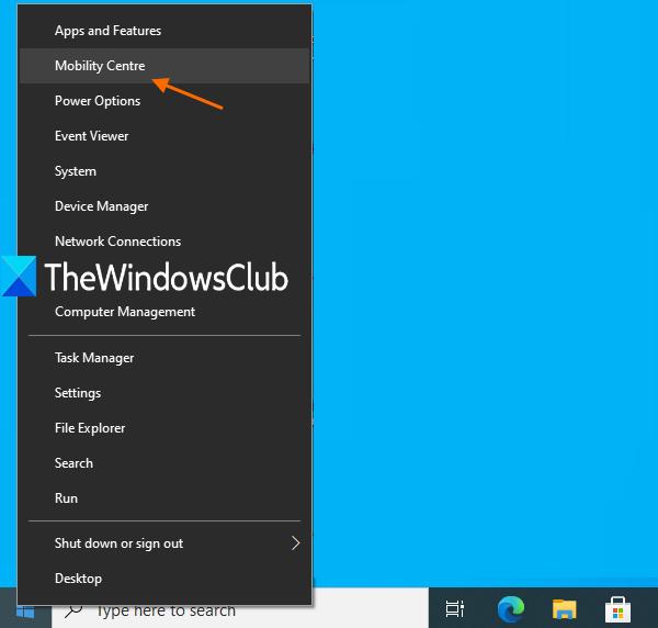 use Win+X menu