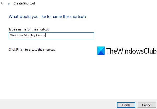 give advert to shortcut