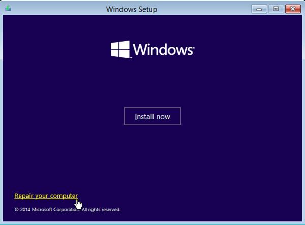 repair your mathematician windows setup