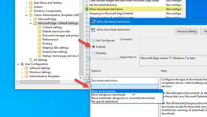 how to prevent users from downloading files in edge 4 How to preclude users ascription downloading files in Edge