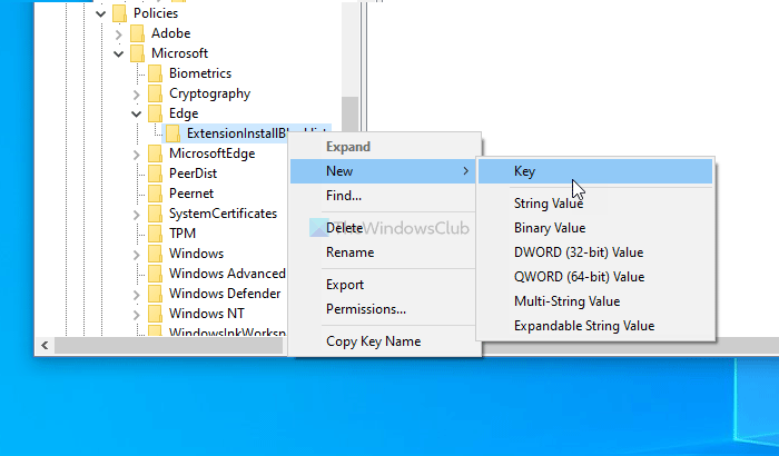 How to forbid users implicate installing extensions inwards Edge