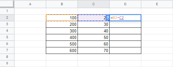 how to subtract in google sheets full guide 4 How to Deduce in Google Sheets (Sheer Inkling)