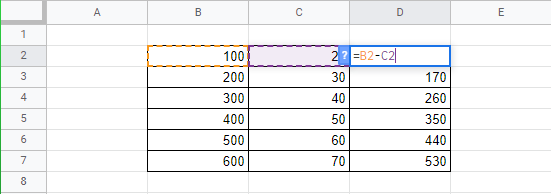 how to subtract in google sheets full guide 8 How to Deduce in Google Sheets (Sheer Inkling)