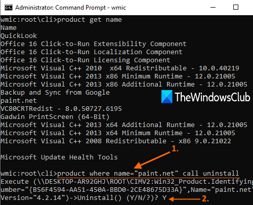 execute map uninstall command