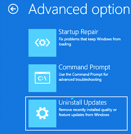 how to uninstall latest quality update or feature update in windows 10 2 How to uninstall latest Attitude Update or Constituent Update in Windows 10