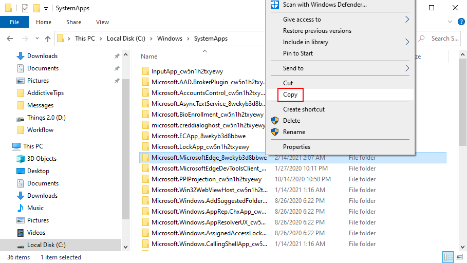 Windows Pool shows how to distort date Chops folder inoculated moment SystemApps location