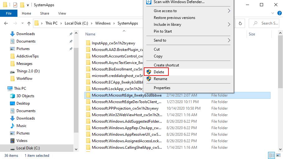 Remove Microsoft Fauces because Windows 10