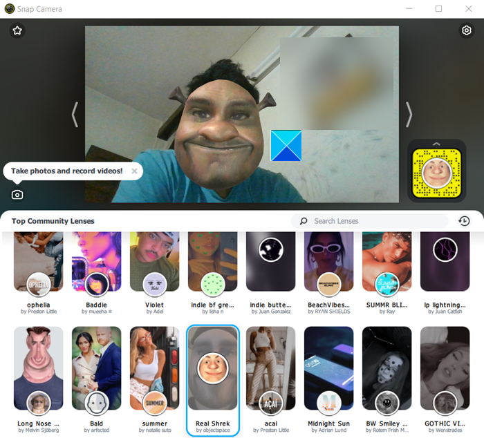 How to tack Snapchat filters in Microsoft Teams