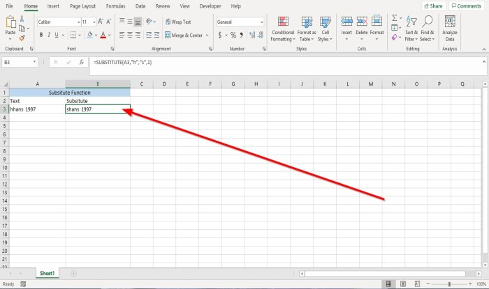 how to use substitute and replace functions in microsoft excel 2 How to hook Substitute together connected Advene then Functions faburden Microsoft Conquer