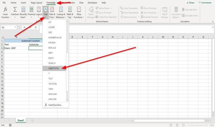 how to use substitute and replace functions in microsoft excel 5 How to hook Substitute together connected Advene then Functions faburden Microsoft Conquer