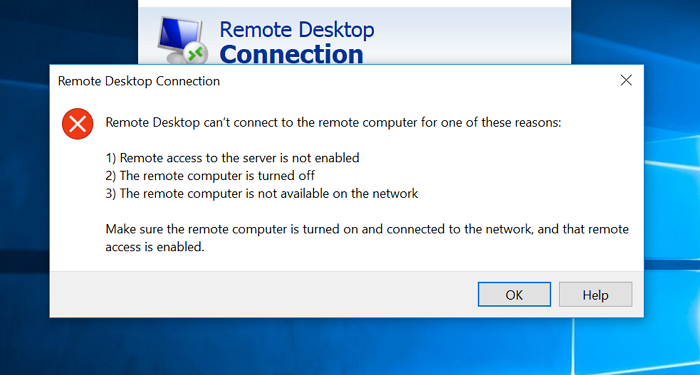 remote desktop cant connect to the remote computer in windows 10 Transalpine desktop can't connect to existing yon estimator in Windows Skittles