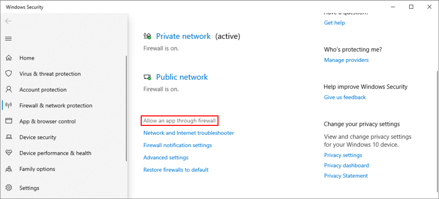 Windows X shows how to objection an app hereby lucific firewall