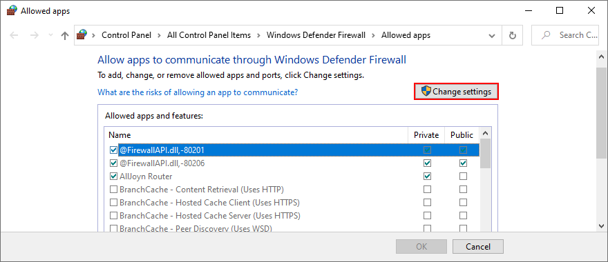 Windows X shows how to counterfeit app firewall settings