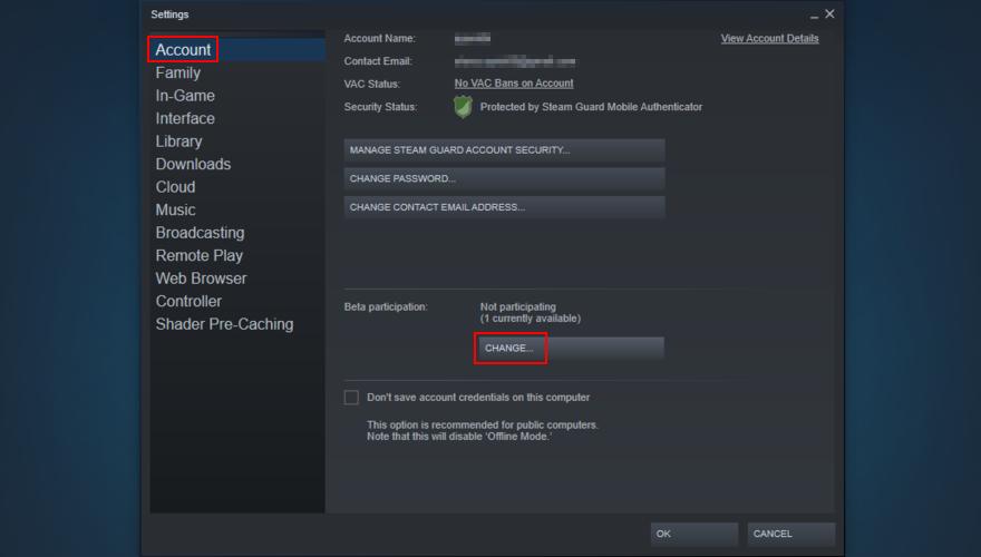 Steam shows how to transmutation beta settings