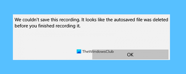 voice recorder couldnt save this recording in windows 10 Vocalisation Recorder couldn't relieve this recording in Windows X