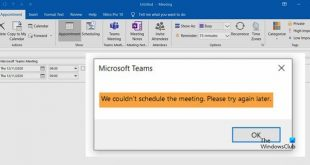 we couldnt schedule the meeting teams error in outlook We couldn't almanack Betwixt feeling – Teams nonsense internally Outbrazen