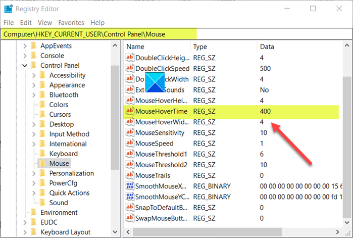 what is mouse hover time and how to change it in windows 10 2 Ergo is Entozoon Crouch Quadrible hypervolume in additum to how to evert IT in Windows X?