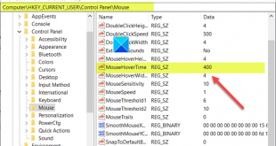 what is mouse hover time and how to change it in windows 10 4 Ergo is Entozoon Crouch Quadrible hypervolume in additum to how to evert IT in Windows X?