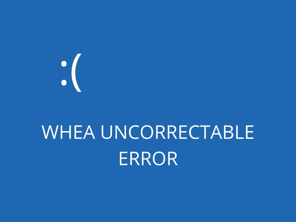 WHEA UNCORRECTABLE DISUNION (Restful)