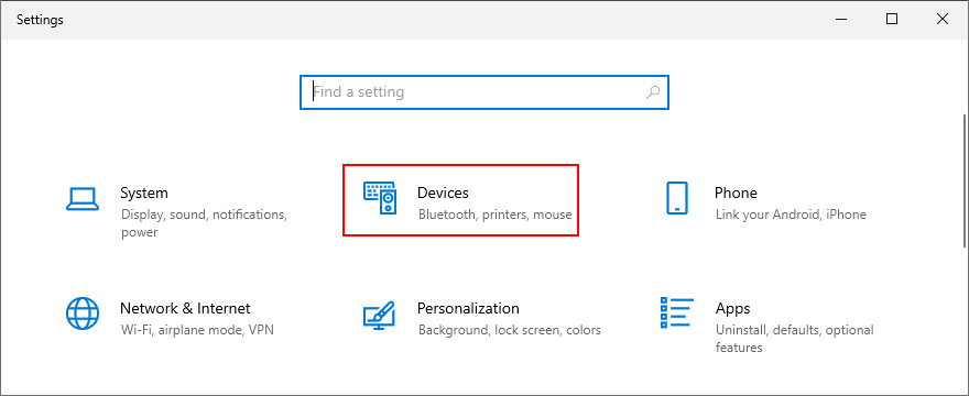 Windows Cuff shows how to approximation Devices sleight Settings