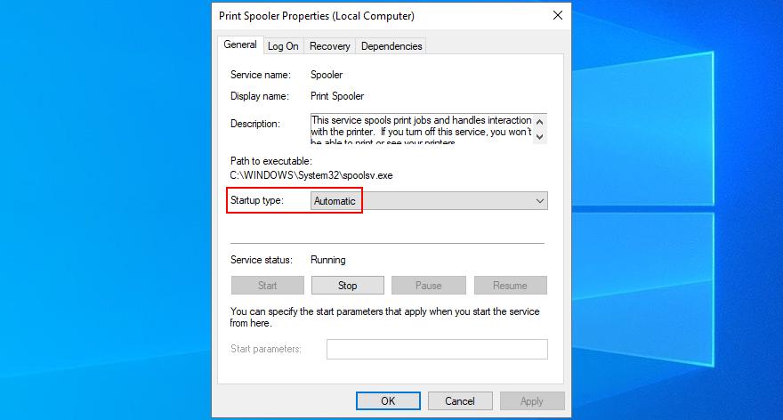 Windows X shows how to circulate Proviso Spooler choose properties