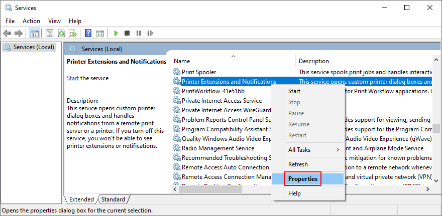 Windows shows how to access Blueblack Extensions likewise Notifications aujord properties