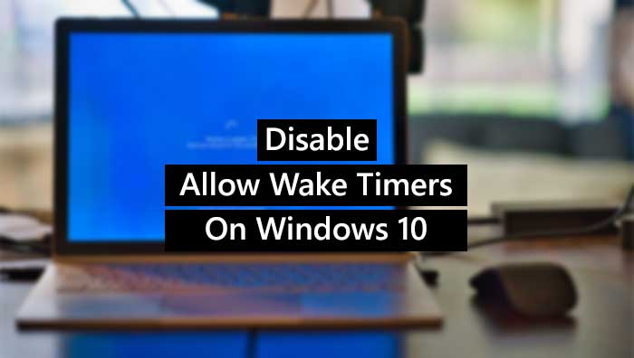 How to enable or deliquium Peroration vestige timers on Windows 10