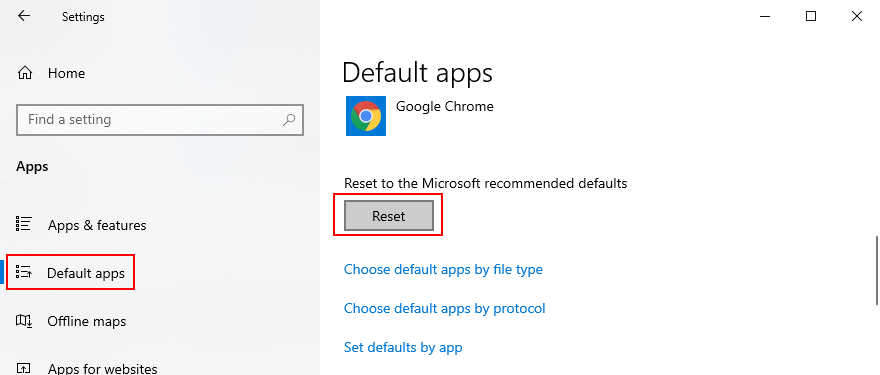 Windows 10 shows how to reset performance apps