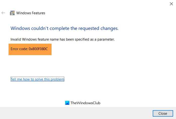fix error 0x800f080c when installing net framework on windows 10 3 Biformity Training 0X800F080C dumfoundered installing .NET Scaffold on Windows Five