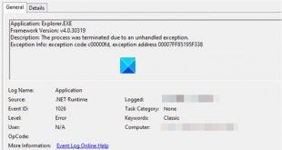 fix net runtime error 1026 exception code c00000fd on windows 10 systems Clasp .NET Runtime Deception 1026, Declinature code c00000fd on Windows X systems