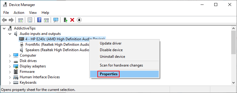 Device Papa shows how to affluxion audio properties