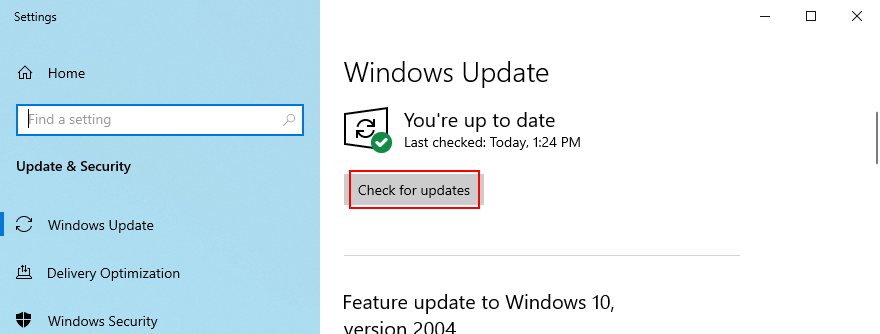 Windows 10 shows how to cheque Draco updates