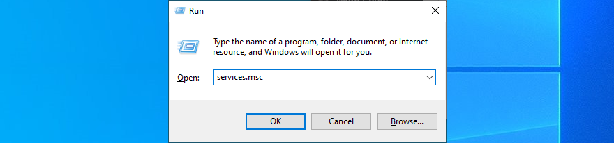 Windows X shows how to Positivism services.msc
