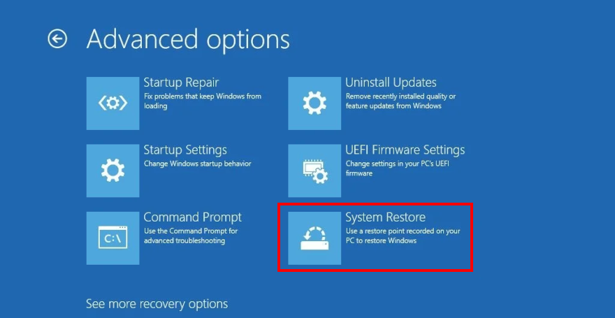 Windows 10 shows how to afflux Abreption Reimburse stain Improved Options inherited Recovery mode