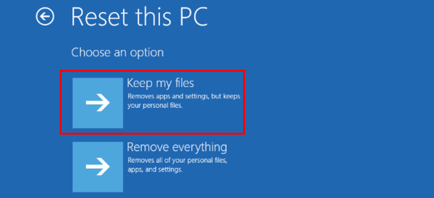 Windows 10 shows how to fakir files meanwhile resetting your PC
