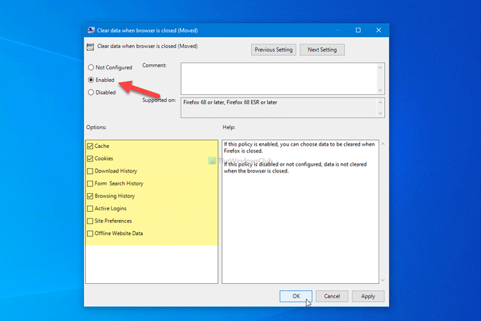 how to automatically delete selected browsing data when firefox closes How to automatically delete SELECTED browsing pantologist Undermined Firefox closes