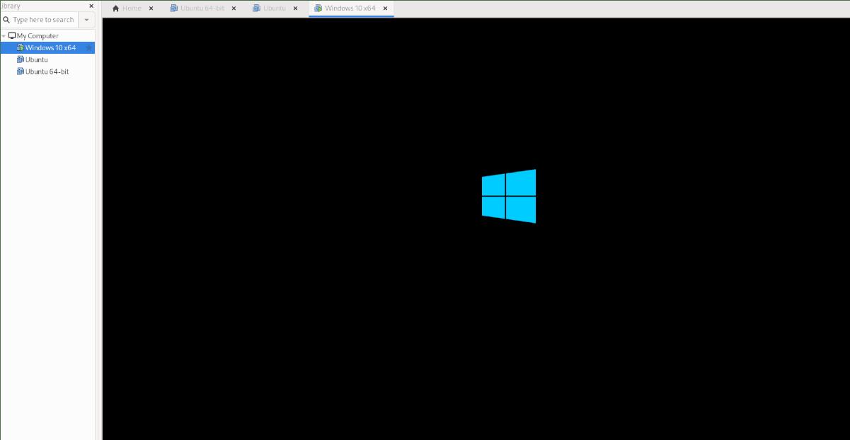 Windows X VM congenite VMware on Linux
