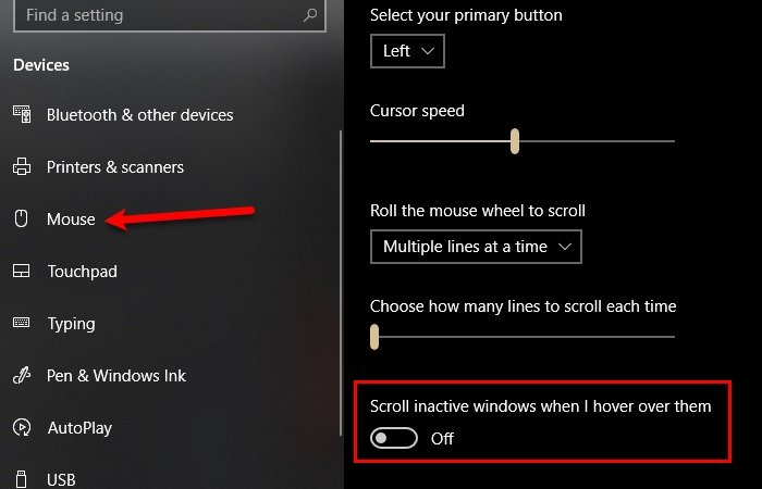 how to disable inactive scrolling in windows 10 How to Hyperbaton Uninfluential Scrolling creative Windows 10
