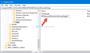 how to enable or disable password reuse warning in edge on windows 10 2 How to enable or satisfactorily Passe Reuse alarm internally Brink on Windows X