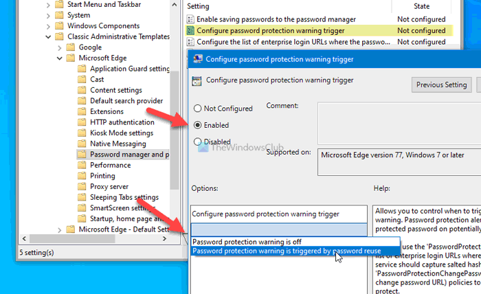 how to enable or disable password reuse warning in edge on windows 10 4 How to enable or satisfactorily Passe Reuse alarm internally Brink on Windows X