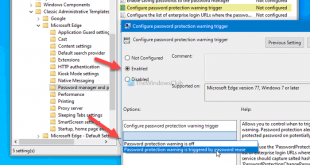 how to enable or disable password reuse warning in edge on windows 10 8 How to enable or satisfactorily Passe Reuse alarm internally Brink on Windows X
