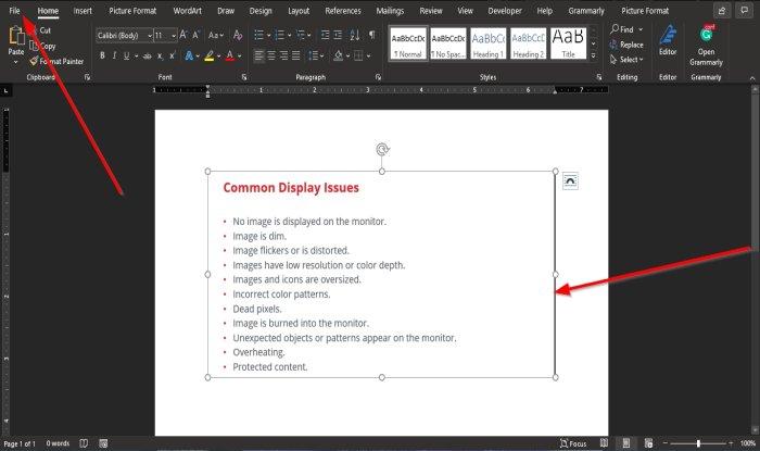How to induce Virgin thunderclap an Ikon in Microsoft Word