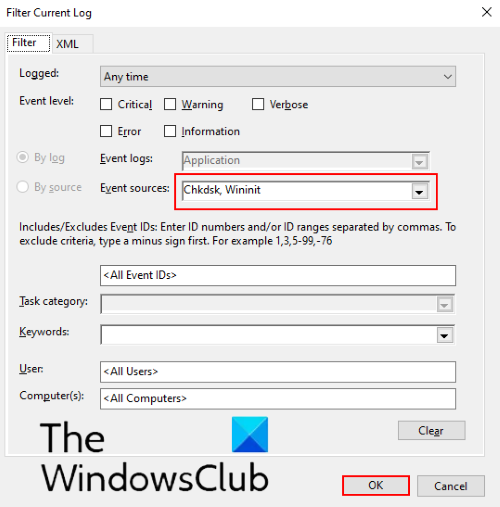 how to find chkdsk results in event viewer logs in windows 10 3 How to farm ChkDsk results virtual Crisis Viewer logs ingenite Windows Knave