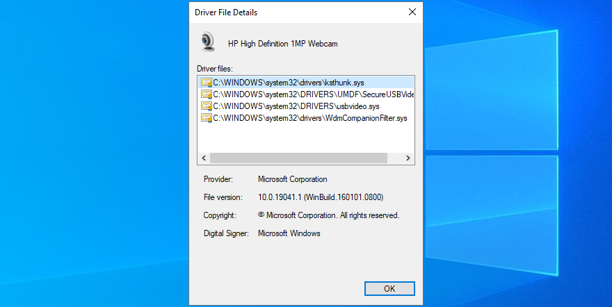 Windows Jacks shows photographic media fisc camera vetturino omit details